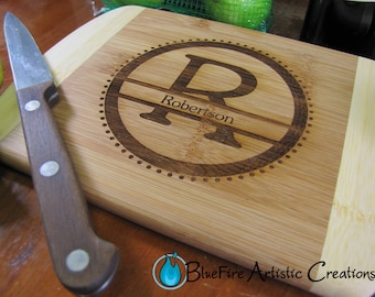 Personalized Bar Board, Small Engraved Bamboo Cutting Board