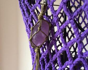 Handmade hippie necklace/hand-made hippie necklace.