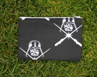 Darth vader with lightsabers small make up bag