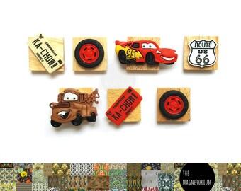 Cars Fridge Magnets [Fridge Magnets, Fridge Magnet Sets, Refrigerator Magnets, Magnet Sets, Office Decor, Kitchen Decor, Magnetic Board]