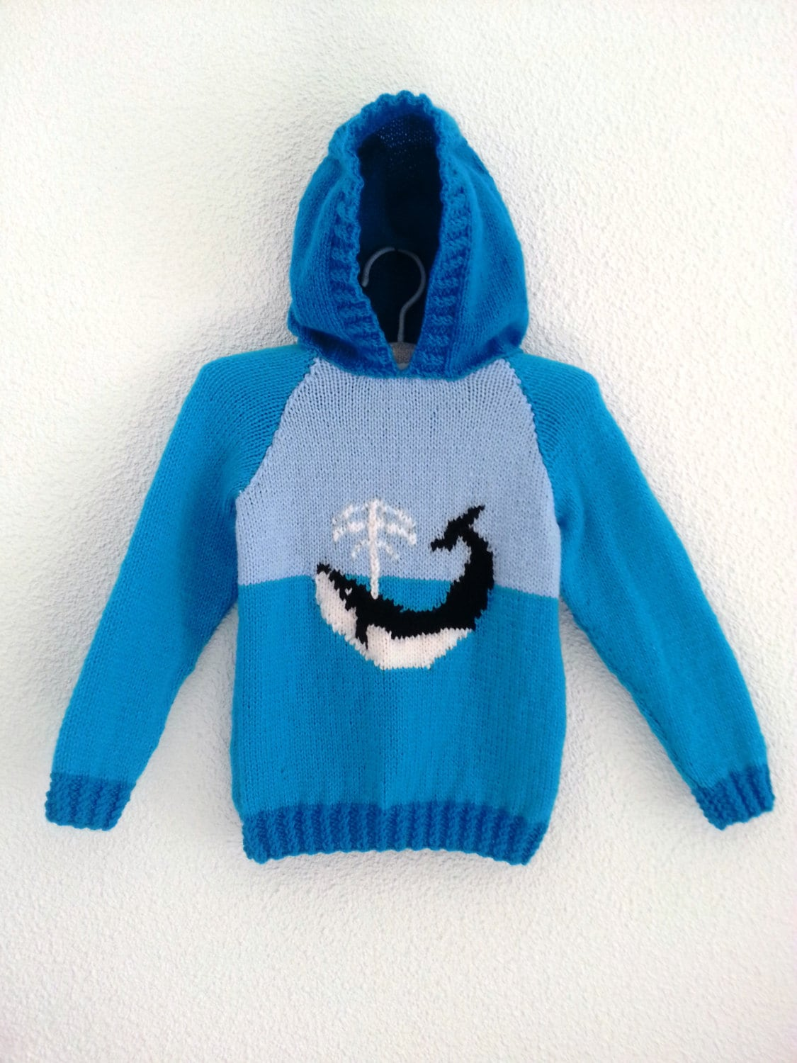 Child\'s Whale Sweater Knitting Pattern, Hoodie with Whale Knitting ...