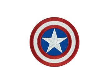 Captain America Avengers Embroidered Iron On Patch Iron on Applique