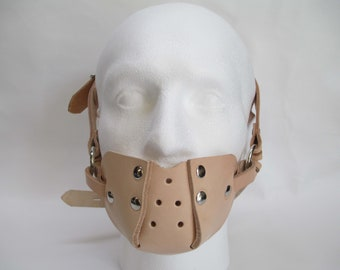Lockable Leather Asylum Style Head Muzzle Gag