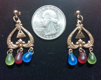 Legend of Zelda Earrings, Triforce Charm, Triforce Earrings, Golden Goddesses Earrings, Zelda Inspired