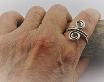 Pointer Finger/Multi-Finger Ring; Sterling Silver, Modern, Whimsical Ring