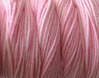 Girlie Pink Worsted Weight Hand Dyed Merino Wool Yarn