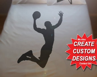 Basketball Duvet Cover Sheet Set Bedding Queen King Twin Size Basket Ball Net Board Player full double cotton duvet covers sheets dunk hoop