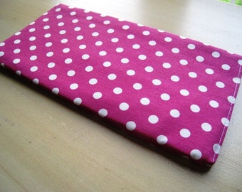 Polka Dots on Fucshia - Apple Magic Keyboard Sleeve, Apple Keyboard Case, Samsung Wireless Keyboard Sleeve - Padded and Zipper Closure