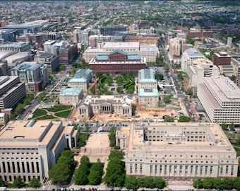Poster, Many Sizes Available; Aerial View Of Judiciary Square