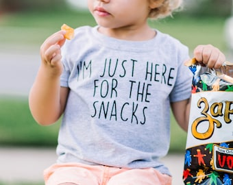 I'm Just Here For The Snacks - Toddler Shirt - Funny Boys Shirt - Toddler Clothes - Toddler Tshirt, Kids Shirt, Boys Shirt, Funny Kids Shirt