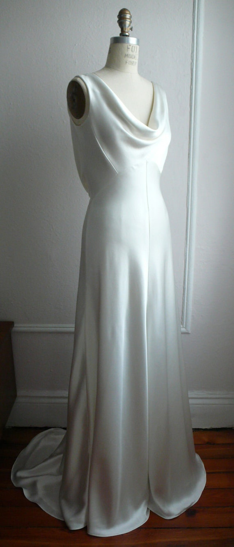 1930\'s Inspired Bias Bridal Gown Ella Low