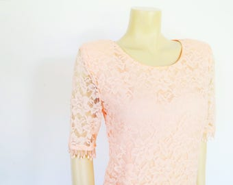 Vintage Dress, UK10, Evening Wear, Dresses, Peach Dress, Formal Dress, Mother Of The Bride, Wedding Outfit, Prom Dress, Ladies Clothing