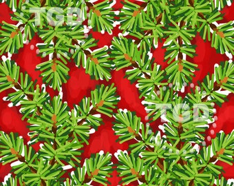 Christmas digital paper, watercolor christmas clipart, holiday digital paper, pine tree, red and green christmas, christmas scrapbook paper