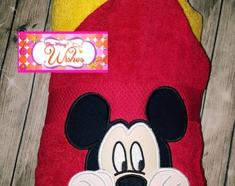 Mouse Inspired Hooded Towel