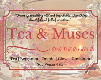 Tea & Muses - Scented Soy Candle Inspried by Strange the Dreamer