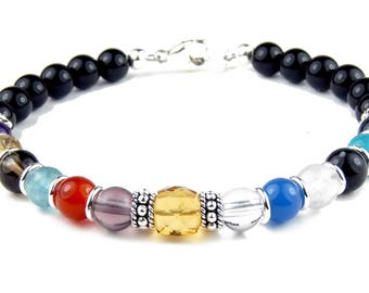 Citrine November Sobriety AA Anniversary Sobriety Bracelet Recovery Jewelry AA Gifts