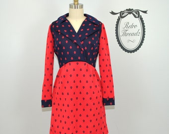 Vintage 70s Mod Leslie Fay Mini Dress