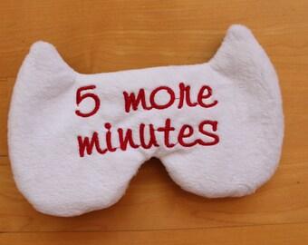 Sleep Eye Mask, 5 more minutes, PJ Party favor,Bachelorette party favor,sleeping mask, Travel gift, cat eye mask, slumber,bridesmaid gift,