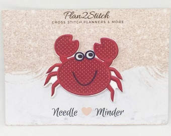 Cute Crab Needleminder for Embroidery/Cross Stitch