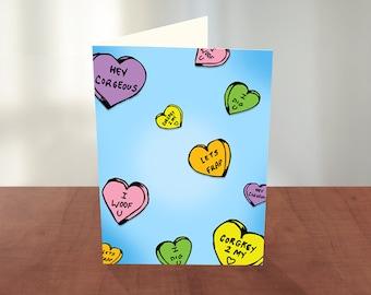 Corgi Conversation Heart Card