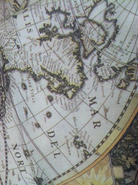 Fabric yardage antique world map fabric on cotton sewing 2500 gumiabroncs Image collections