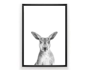Kangaroo Print, Nursery Wall Art, Woodland Nursery Decor, Nursery Wall Art, Kangaroo Print Wall Art, Kangaroo Print, Nursery Print