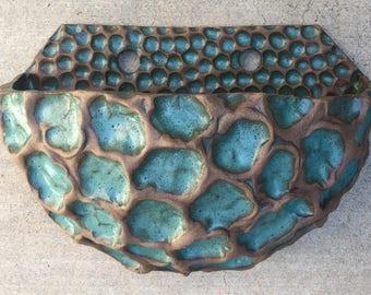 Hand Built Ceramic wall Planter