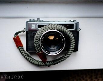 Camera Wrist Strap, Dark Grey, Paracord camera strap