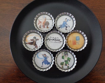 Avatar The Last Airbender Bottlecap Magnets!