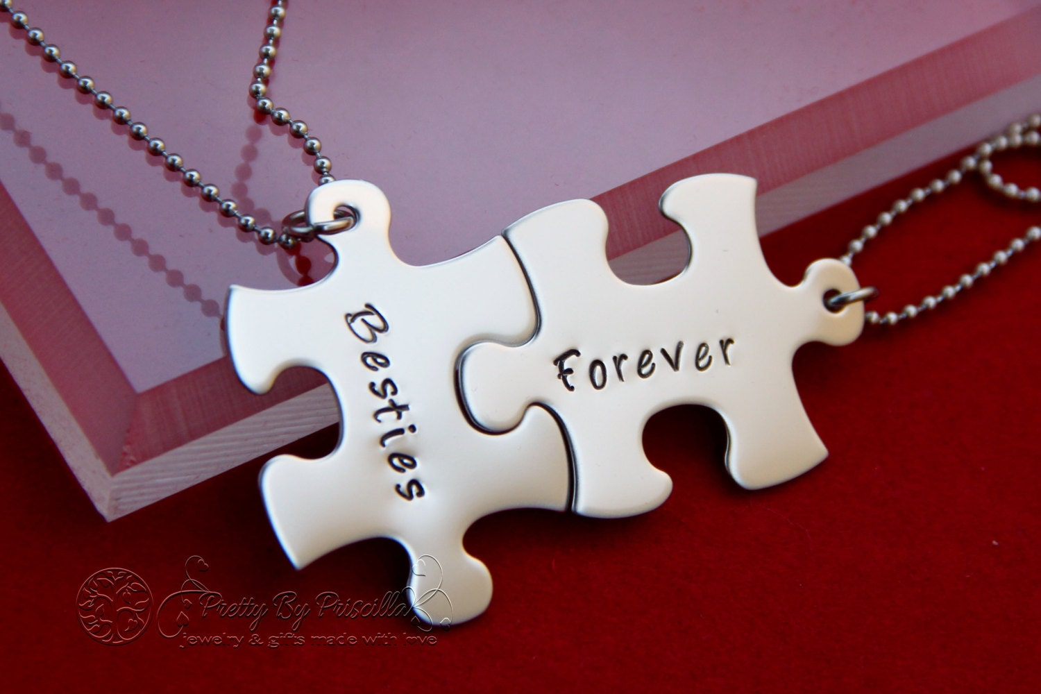 Christmas gift ideas for friends / Two Besties Forever Unique
