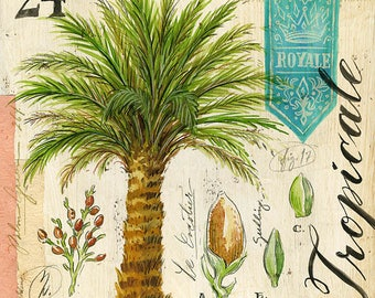 Palm Tree Print, Palm Tree Illustration, Tropical Print, Tropical Illustration