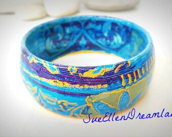 Turquoise bracelet, cuff bracelet, wide bracelet, bridesmaid bracelet, turquoise bangle, friendship bracelet, boho jewelry, recycled jewelry