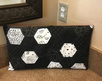 Abstract Pillow. Decoretcbyjackie. Black and white Pillow.