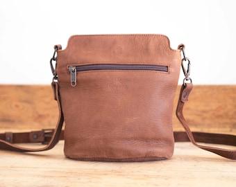 Small Leather bag // Leather handbag // Brown Leather bag // Cross-body leather bag FLOR // Small shoulder bag