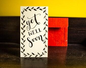 Get Well Soon Handmade greeting card