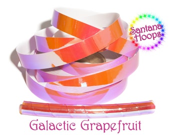 Galactic Grapefruit Color shifting Morph Taped Performance Hula Hoop Polypro or HDPE