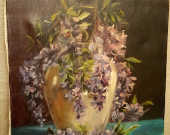 painting floral painting vintage floral painting REDUCED!!!
