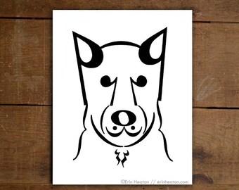 Music note gift / CODA // DOG SERIES // Music art print  - 5x7, 8x10, 11x14 Fine art print / Music teacher gift / Music decor / Music poster