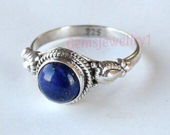 Lapis Stone Ring, Lapis lazuli Ring, Blue Stone Ring,  Lapis Ring,  925 Sterling Silver Ring, Natural Lapis Ring, Girls Ring, Gemstone Ring