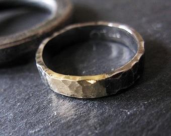 Mens Wedding Bands Mens Wedding Band Mens Wedding Ring Black Gold Ring Rustic Wedding Band Unique Mens Wedding Ring Viking Wedding Ring Mens