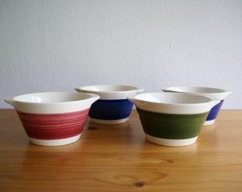 4 bowls, soup bowls years ' 70