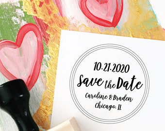 Save the Date Stamp, Wedding Save the Date, Modern Save the Date, DIY Save the Dates, Wedding Invitations, Wedding Stationery, Stamp No. 76W