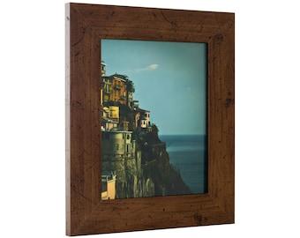 """Craig Frames, 19x27 Inch Dark Brown Picture Frame, Bauhaus 2"""" Wide (FM74DKW1927)"""