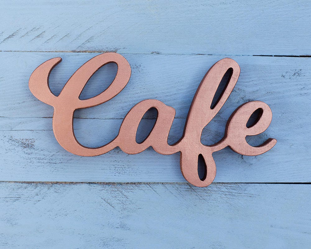 Cafe sign copper signs cafe decor kitchen signs