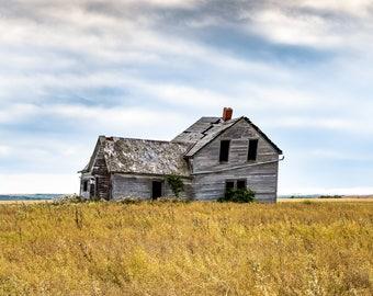 "Large Wall Art, Home Decor, Fine Art, Giclee, Prints, Photography, Landscape, Colour, Prairies, ""Abandoned"""