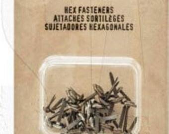 Tim Holtz Idea-Ology Hex Fasteners