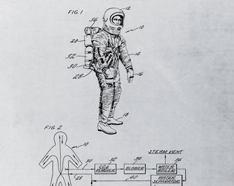 Originale combinaison spatiale de la NASA 1967, espace impression, impression de combinaison spatiale, cadeau sur le thème de l'espace, Space Art, Space Age, espace Decor, espace cadeaux, Art de l'espace de mur,