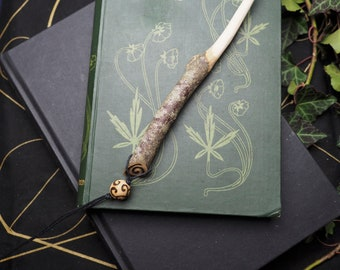 English Linden Wood Wand Pendant -For Freya & Love - Pagan, Wicca, Witchcraft, Ritual, Travel Wand