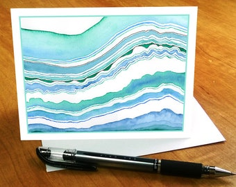 Beach Note Cards, Watercolor Stationary Beach Notecards, Beach Card Set, Blank Note Cards with Envelopes, Beach Stationery, Watercolor Cards