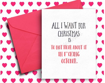 Funny Holiday Card, Funny Christmas Card, Card Set, For Best Friend, For Her, Funny Cards, Sarcastic, Merry Christmas, Funny Greeting Card